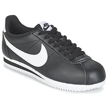 kengät Naiset Matalavartiset tennarit Nike CLASSIC CORTEZ LEATHER W Black / White