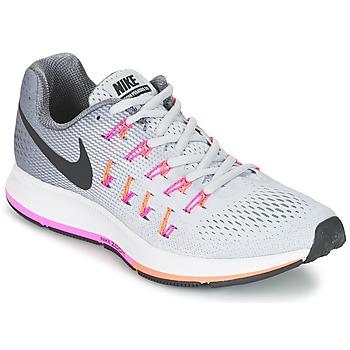 kengät Naiset Juoksukengät / Trail-kengät Nike AIR ZOOM PEGASUS 33 W Grey / Pink