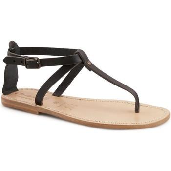kengät Naiset Sandaalit ja avokkaat Gianluca - L'artigiano Del Cuoio 582 D NERO LGT-CUOIO nero