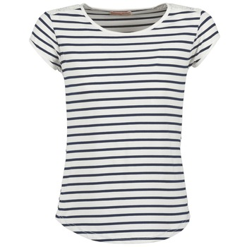vaatteet Naiset Lyhythihainen t-paita Moony Mood EIYA White / Blue