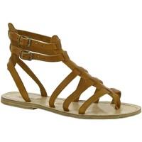 kengät Naiset Sandaalit ja avokkaat Gianluca - L'artigiano Del Cuoio 506 D CUOIO LGT-CUOIO Cuoio