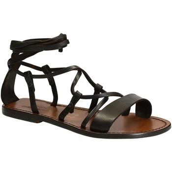 kengät Naiset Sandaalit ja avokkaat Gianluca - L'artigiano Del Cuoio 519 D MORO CUOIO Testa di Moro