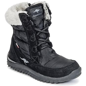 kengät Tytöt Talvisaappaat Kangaroos CUPY JUNIOR Musta