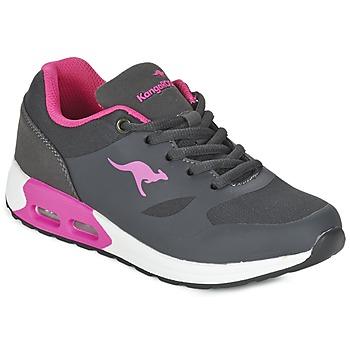 kengät Tytöt Matalavartiset tennarit Kangaroos KANGA X Grey / Pink