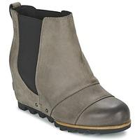 kengät Naiset Nilkkurit Sorel LEA WEDGE Grey / Fonce