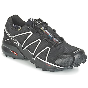kengät Miehet Juoksukengät / Trail-kengät Salomon SPEEDCROSS 4 GTX® Black / Hopea