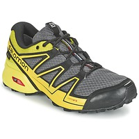 kengät Miehet Juoksukengät / Trail-kengät Salomon SPEEDCROSS VARIO GTX® Grey / Green / Yellow