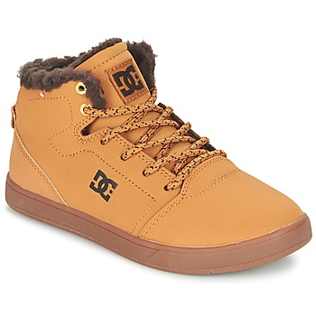 kengät Lapset Korkeavartiset tennarit DC Shoes CRISIS HIGH WNT B SHOE WD4 RED MULTI WF SDE / CHOCOLAT