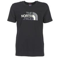 vaatteet Miehet Lyhythihainen t-paita The North Face S/S EASY TEE Black