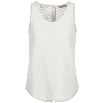 vaatteet Naiset Hihattomat paidat / Hihattomat t-paidat Moony Mood GUOHIAVINE White