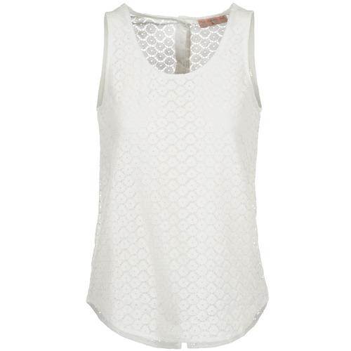 vaatteet Naiset Hihattomat paidat / Hihattomat t-paidat Moony Mood IGUOHIAVINE White