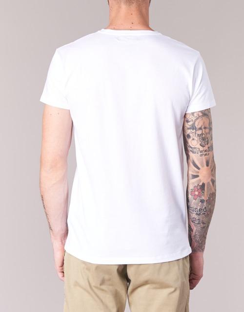 Botd Ecalora White - Ilmainen Toimitus- Vaatteet Lyhythihainen T-paita Miehet 9