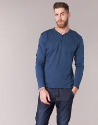 vaatteet Miehet T-paidat pitkillä hihoilla BOTD ETUNAMA Laivastonsininen
