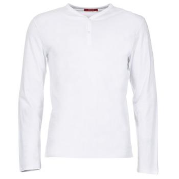 vaatteet Miehet T-paidat pitkillä hihoilla BOTD ETUNAMA White