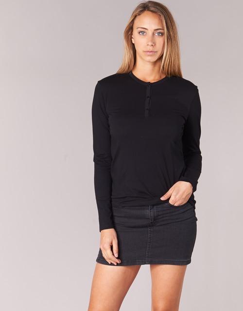 vaatteet Naiset T-paidat pitkillä hihoilla BOTD EBISCOL Musta