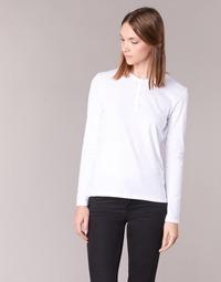 vaatteet Naiset T-paidat pitkillä hihoilla BOTD EBISCOL White