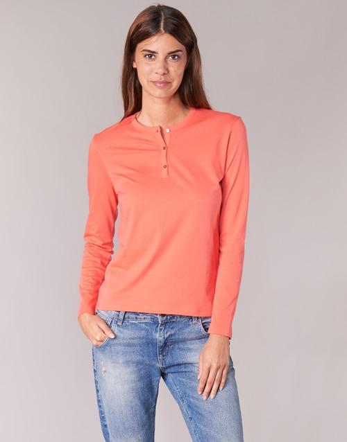 vaatteet Naiset T-paidat pitkillä hihoilla BOTD EBISCOL Orange
