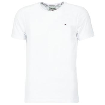 vaatteet Miehet Lyhythihainen t-paita Tommy Jeans OFLEKI Valkoinen