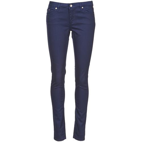 vaatteet Naiset 5-taskuiset housut Element STICKER Blue