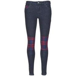 vaatteet Naiset Slim-farkut American Retro LOU Sininen