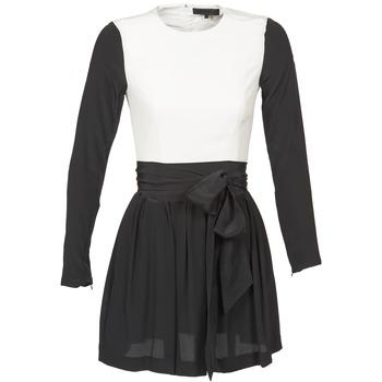 vaatteet Naiset Lyhyt mekko American Retro STANLEY Musta / Valkoinen