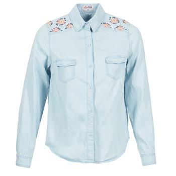 vaatteet Naiset Paitapusero / Kauluspaita Yurban EGUATOULE Blue / CLAIR