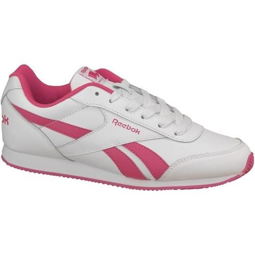 kengät Naiset Matalavartiset tennarit Reebok Sport Royal CL Jogger 2 V70489 Pink,White