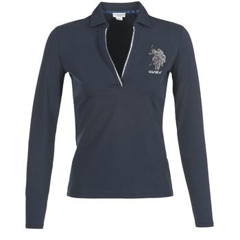 vaatteet Naiset Pitkähihainen poolopaita U.S Polo Assn. CRISTINE Laivastonsininen