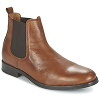 kengät Miehet Bootsit Selected SHDOLIVER CHELSEA BOOT NOOS COGNAC