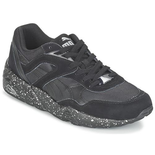 kengät Miehet Matalavartiset tennarit Puma R698 SPECKLE V2 Black / Hopea