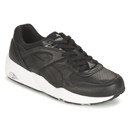 kengät Miehet Matalavartiset tennarit Puma R698 CORE LEATHER Black