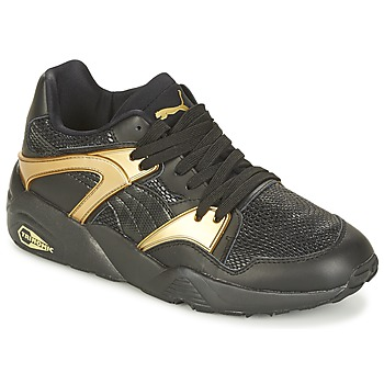 kengät Naiset Matalavartiset tennarit Puma BLAZE GOLD WN'S Black / Kulta