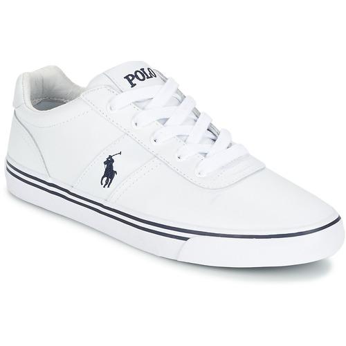 kengät Miehet Matalavartiset tennarit Polo Ralph Lauren HANFORD Valkoinen