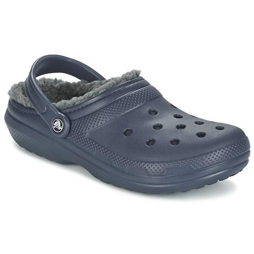 kengät Puukengät Crocs CLASSIC LINED CLOG Laivastonsininen / Grey