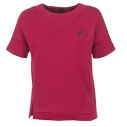 vaatteet Naiset Svetari Nike TECH FLEECE CREW Viininpunainen