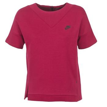 vaatteet Naiset Svetari Nike TECH FLEECE CREW Bordeaux