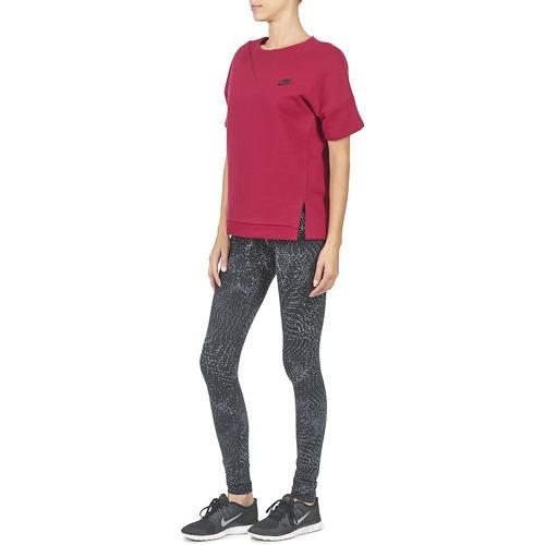 Nike Tech Fleece Crew Bordeaux - Ilmainen Toimitus- Vaatteet Svetari Naiset 41