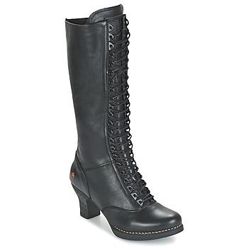 kengät Naiset Saappaat Art HARLEM Black