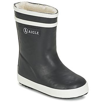 kengät Lapset Kumisaappaat Aigle BABY FLAC FUR Laivastonsininen
