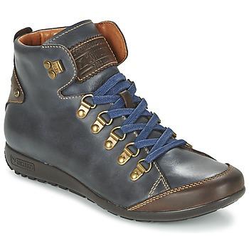 kengät Naiset Korkeavartiset tennarit Pikolinos LISBOA W67 Laivastonsininen