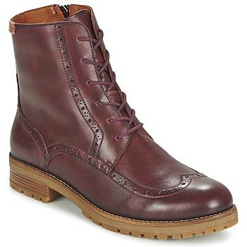 kengät Naiset Bootsit Pikolinos SANTANDER W4J Brown