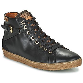kengät Naiset Korkeavartiset tennarit Pikolinos LAGOS 901 Black