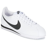 kengät Miehet Matalavartiset tennarit Nike CLASSIC CORTEZ LEATHER White / Black