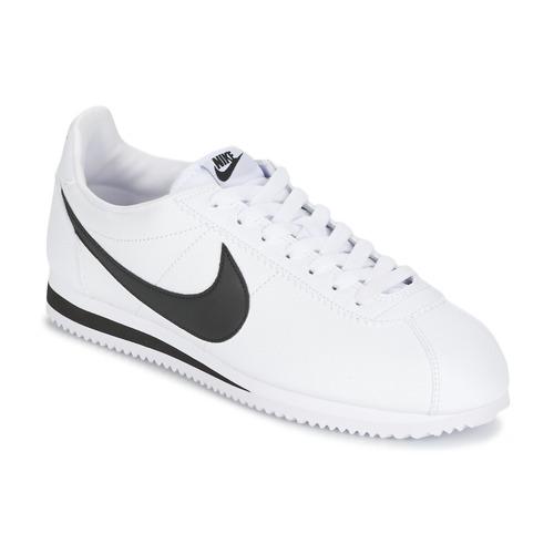 kengät Miehet Matalavartiset tennarit Nike CLASSIC CORTEZ LEATHER White / Black