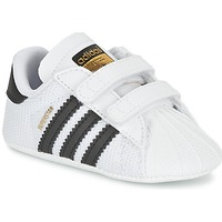 kengät Pojat Matalavartiset tennarit adidas Originals SUPERSTAR CRIB White