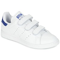 kengät Miehet Matalavartiset tennarit adidas Originals STAN SMITH CF White / Blue