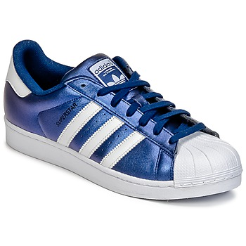 kengät Miehet Matalavartiset tennarit adidas Originals SUPERSTAR Blue