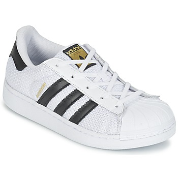 kengät Lapset Matalavartiset tennarit adidas Originals SUPERSTAR EL C White