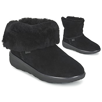 kengät Naiset Bootsit FitFlop SUPERCUSH MUKLOAFF SHORTY Black