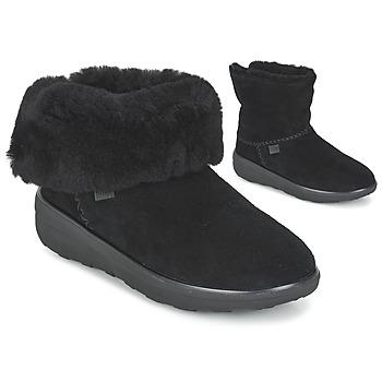 kengät Naiset Bootsit FitFlop MUKLUK SHORTY 2 BOOTS Black